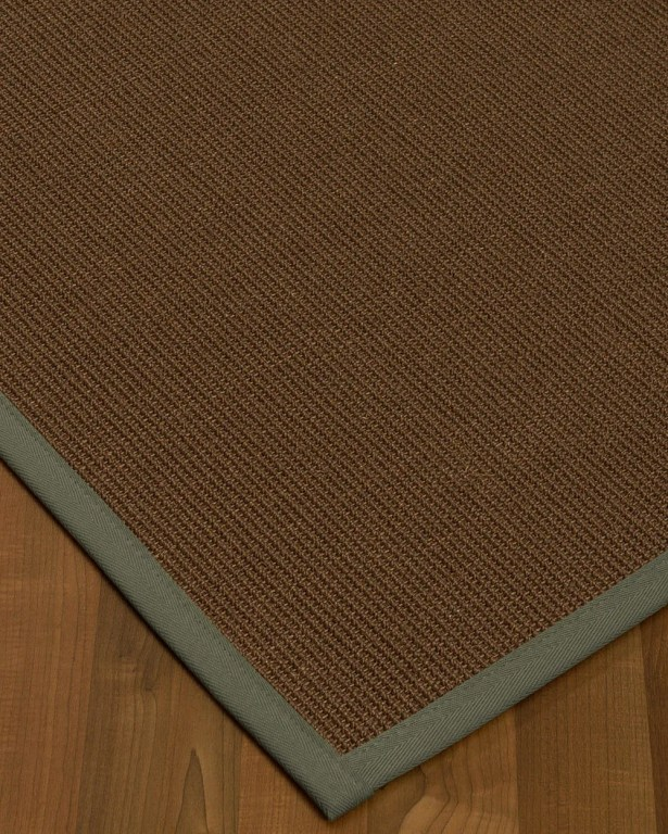 Heider Border Hand-Woven Brown/Gray Area Rug Rug Size: Rectangle 5' x 8', Rug Pad Included: Yes