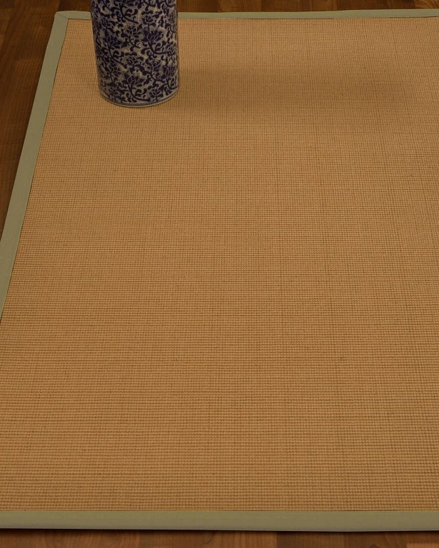Magruder Border Hand-Woven Wool Beige/Sand Area Rug Rug Size: Rectangle 4' x 6', Rug Pad Included: Yes