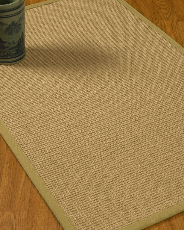 Jacobs Border Hand-Woven Beige/Natural Area Rug Rug Pad Included: No, Rug Size: Runner 2'6