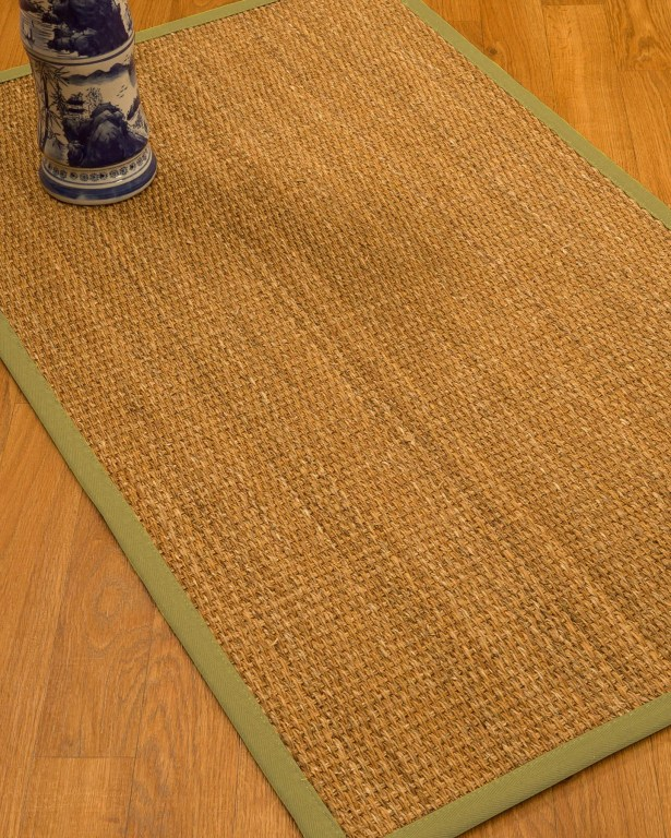 Kimberwood Border Hand-Woven Brown/Green Area Rug Rug Size: Rectangle 8' x 10', Rug Pad Included: Yes