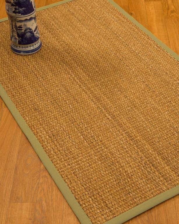 Kimberwood Border Hand-Woven Brown/Sand Area Rug Rug Size: Rectangle 12' x 15', Rug Pad Included: Yes