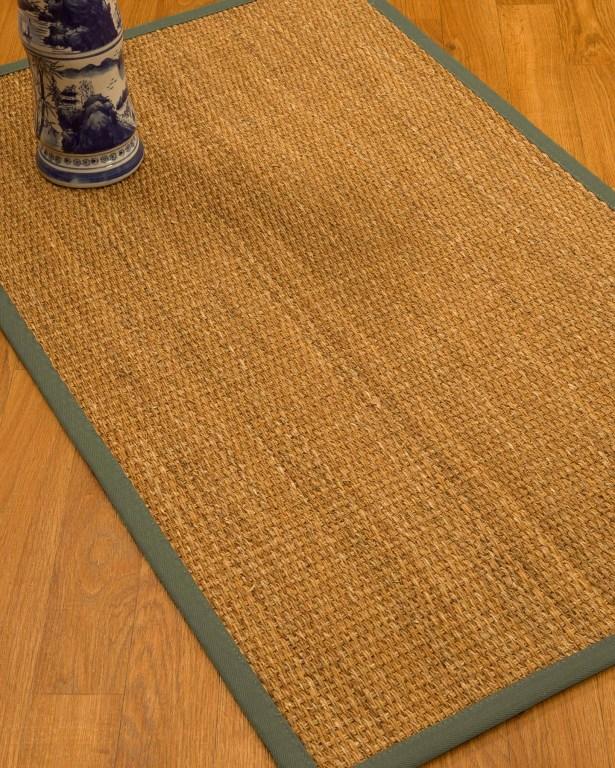 Kimberwood Border Hand-Woven Brown/Stone Area Rug Rug Size: Rectangle 4' x 6', Rug Pad Included: Yes