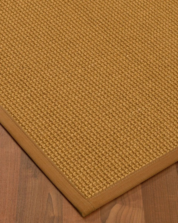 Aula Border Hand-Woven Brown/Sienna Area Rug Rug Size: Rectangle 9' x 12', Rug Pad Included: Yes