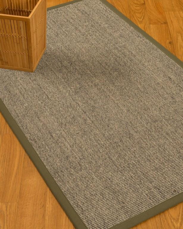 Mahan Border Hand-Woven Gray Area Rug Rug Size: Rectangle 5' x 8', Rug Pad Included: Yes