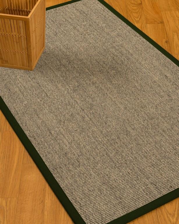 Mahan Border Hand-Woven Gray/Moss Area Rug Rug Size: Rectangle 12' x 15', Rug Pad Included: Yes
