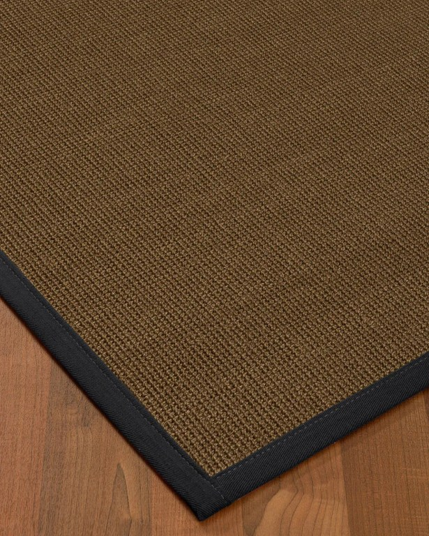 Kerner Border Hand-Woven Brown/Midnight Blue Area Rug Rug Size: Rectangle 12' x 15', Rug Pad Included: Yes