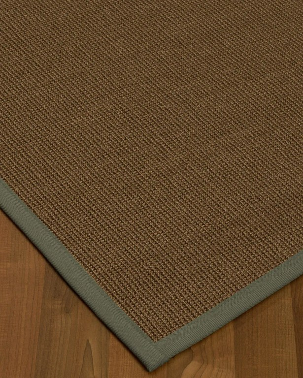 Kerner Border Hand-Woven Brown/Stone Area Rug Rug Pad Included: No, Rug Size: Runner 2'6