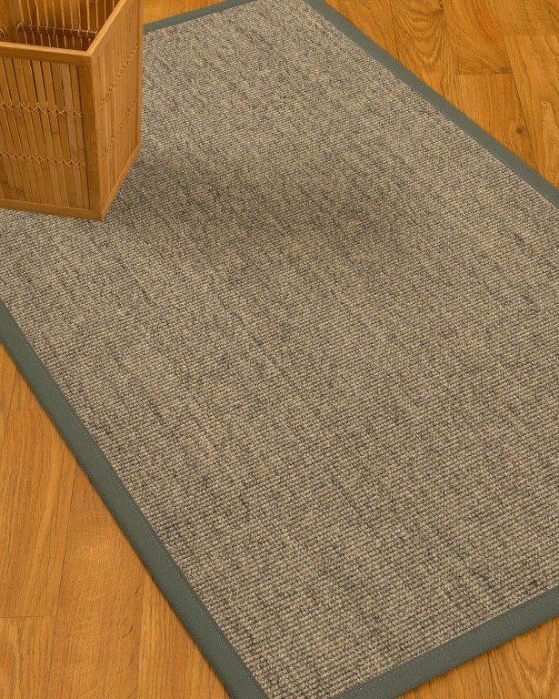 Mahan Border Hand-Woven Gray/Stone Area Rug Rug Size: Rectangle 12' x 15', Rug Pad Included: Yes