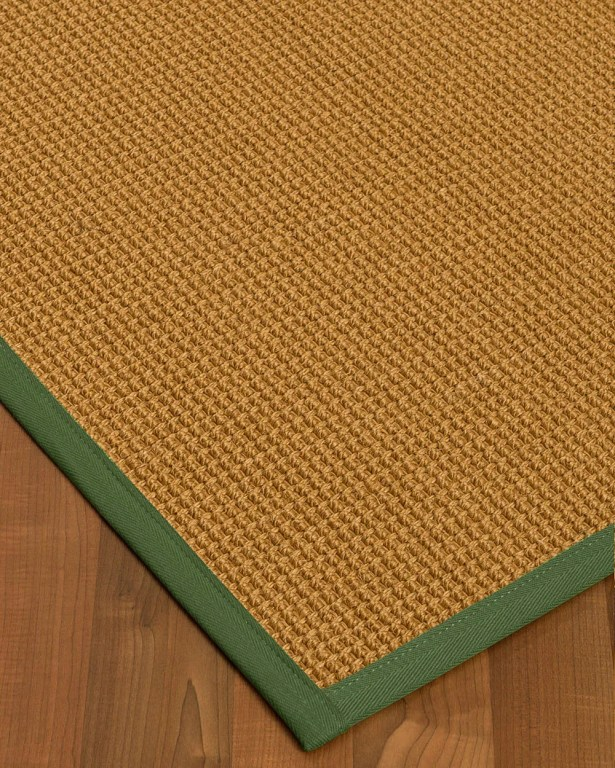 Aula Border Hand-Woven Brown/Green Area Rug Rug Size: Rectangle 6' x 9', Rug Pad Included: Yes