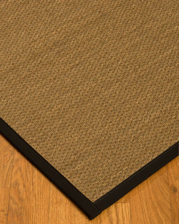 Chavis Border Hand-Woven Beige/Black Area Rug Rug Size: Rectangle 9' x 12', Rug Pad Included: Yes