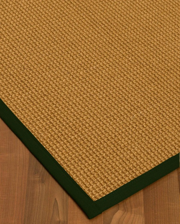 Aula Border Hand-Woven Brown/Moss Area Rug Rug Size: Rectangle 12' x 15', Rug Pad Included: Yes