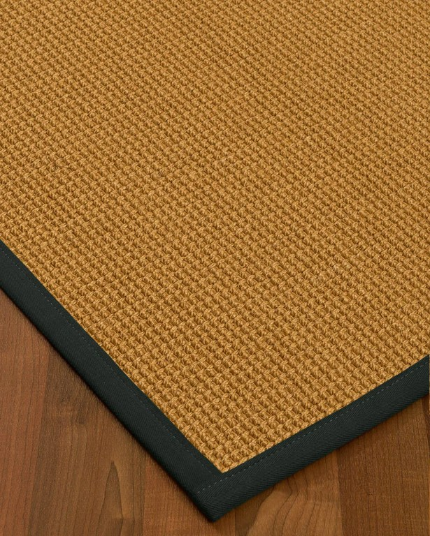 Aula Border Hand-Woven Brown/Onyx Area Rug Rug Size: Rectangle 4' x 6', Rug Pad Included: Yes