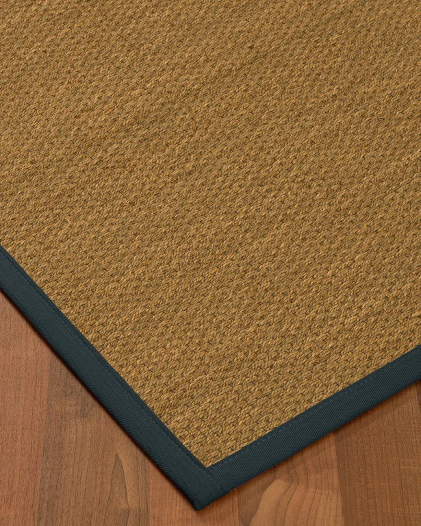 Chavis Border Hand-Woven Beige/Marine Area Rug Rug Size: Rectangle 5' x 8', Rug Pad Included: Yes
