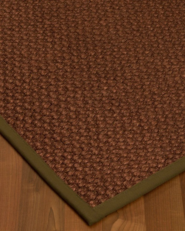 Kerrick Border Hand-Woven Brown Area Rug Rug Size: Rectangle 12' x 15', Rug Pad Included: Yes