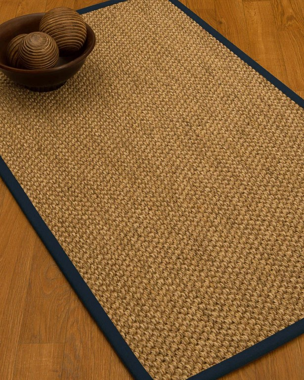 Heier Border Hand-Woven Brown/Marine Area Rug Rug Size: Rectangle 9' x 12', Rug Pad Included: Yes