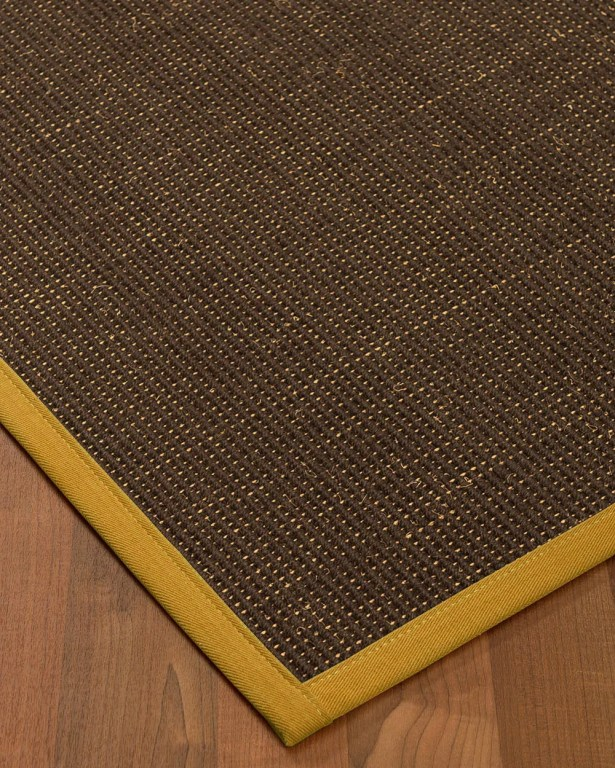 Kersh Border Hand-Woven Brown/Tan Area Rug Rug Size: Rectangle 4' x 6', Rug Pad Included: Yes