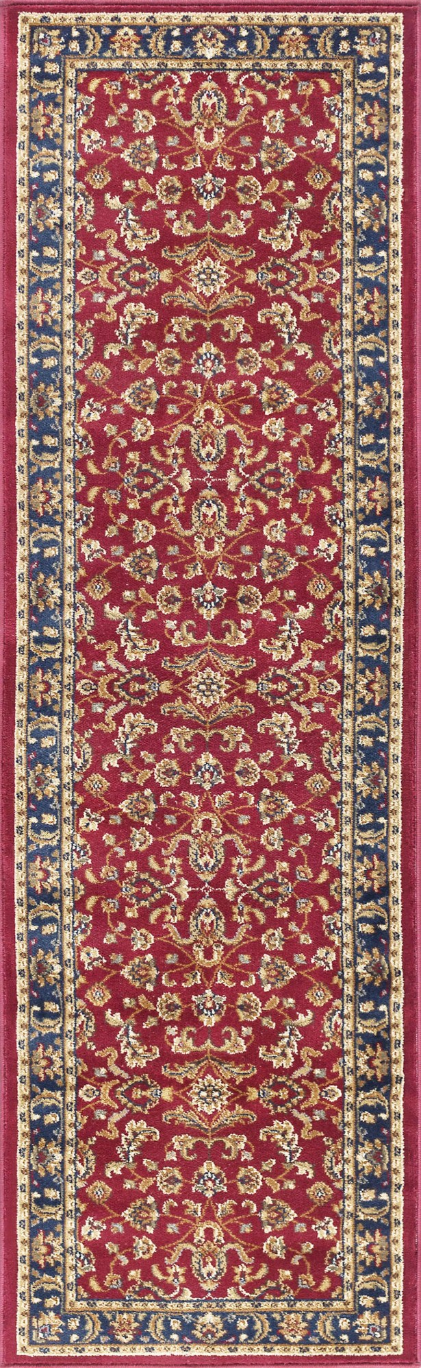 Clarence Red/Navy Blue Area Rug Rug Size: 2'3'' x 10'