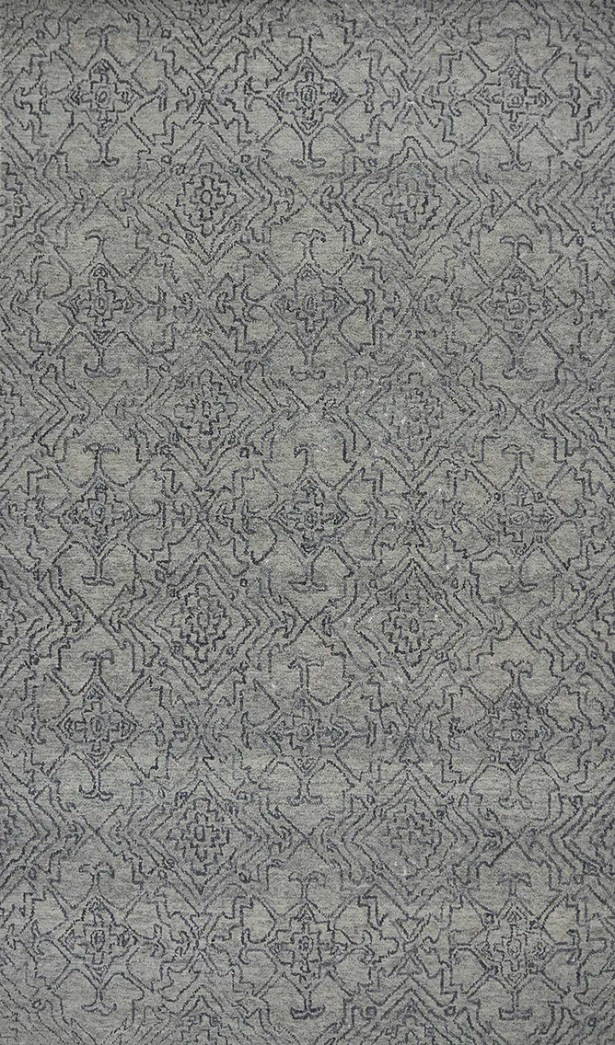 Gilleland Hand-Tufted Wool Gray Area Rug Rug Size: Rectangle 7'6