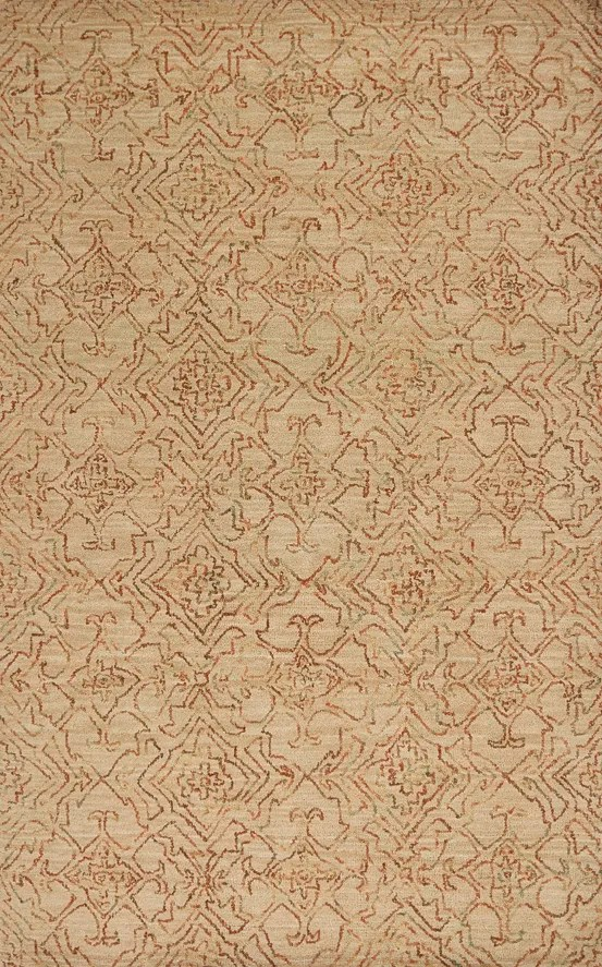 Gilleland Hand-Tufted Wool Sand Area Rug Rug Size: Rectangle 7'6