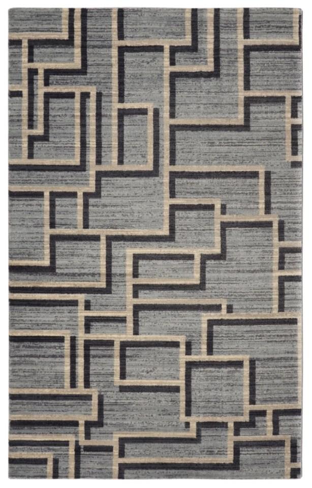 Pacheco Mid-Century Geometric Gray Area Rug Rug Size: Rectangle 5'6