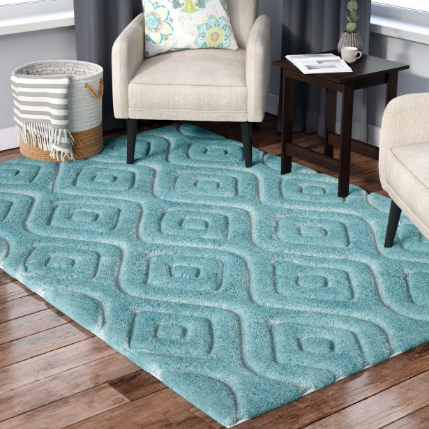 Helms Blue Area Rug Rug Size: Rectangle 4' x 6'