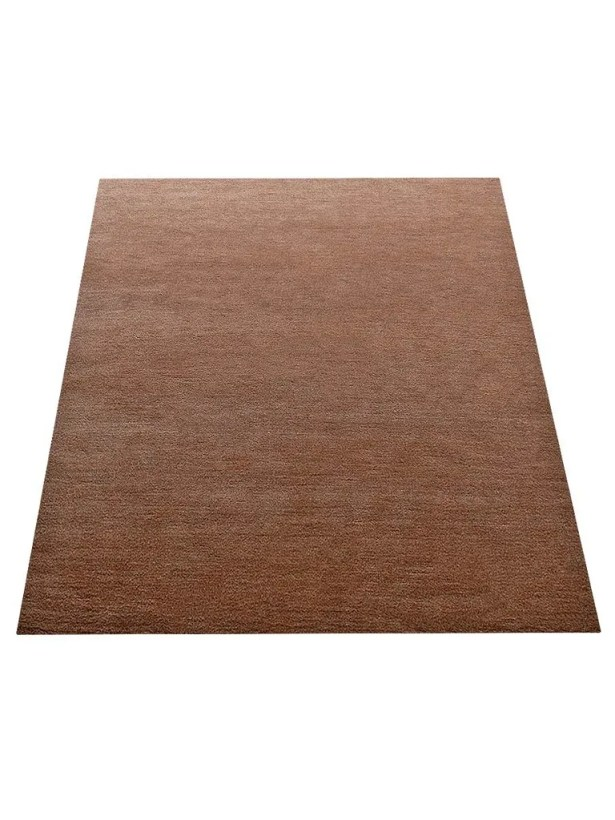 Ry Hand-Knotted Wool Light Brown Area Rug Rug Size: Rectangle 6' x 9'