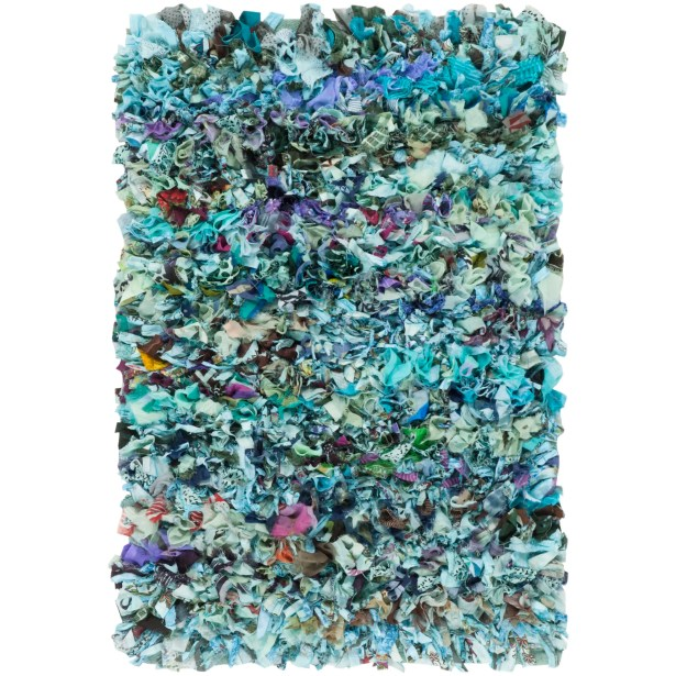 Cudney Shag Hand-Woven Blue Area Rug Rug Size: Square 6'