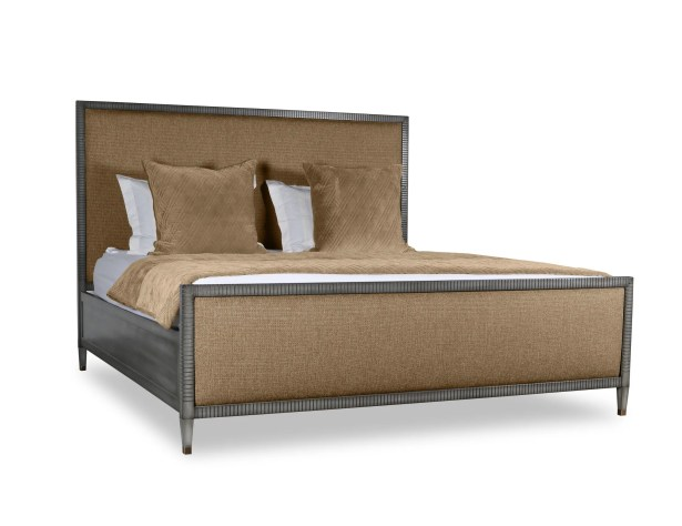 Korhonen Plain Upholstered Panel Bed Color: Brown, Size: California King