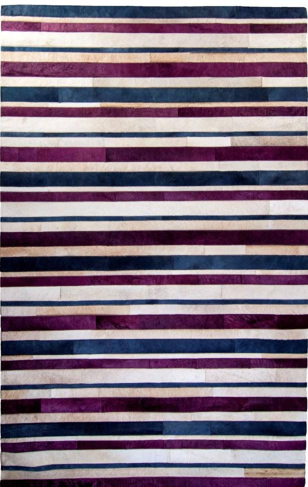 One-of-a-Kind Housman Hand-Woven Cowhide Purple/Blue Area Rug Rug Size: Rectangle 6' x 9'