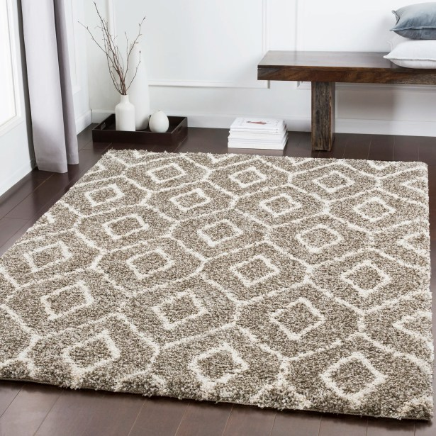 Chronister Geometric Brown/Taupe Area Rug Rug Size: Rectangle 9'3