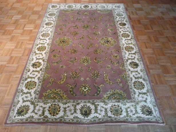 One-of-a-Kind Sherika Hand-Knotted Wool Light Brown Area Rug