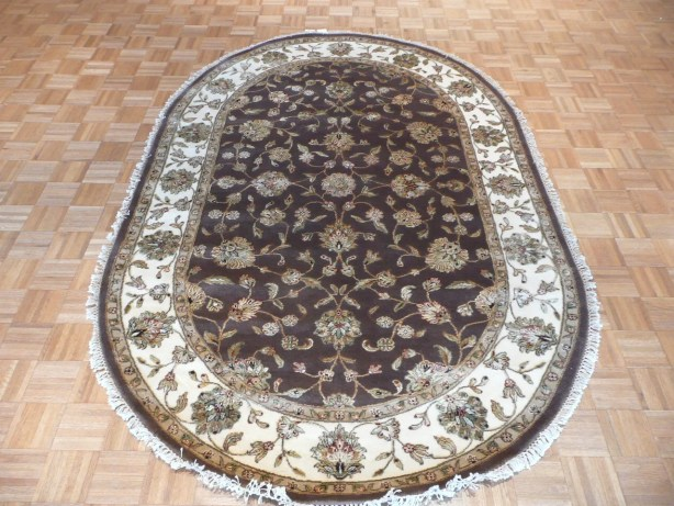 One-of-a-Kind Rhyne Hand-Knotted Brown Area Rug