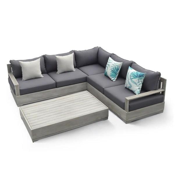 Beranda 3 Piece Sectional Set with Cushions