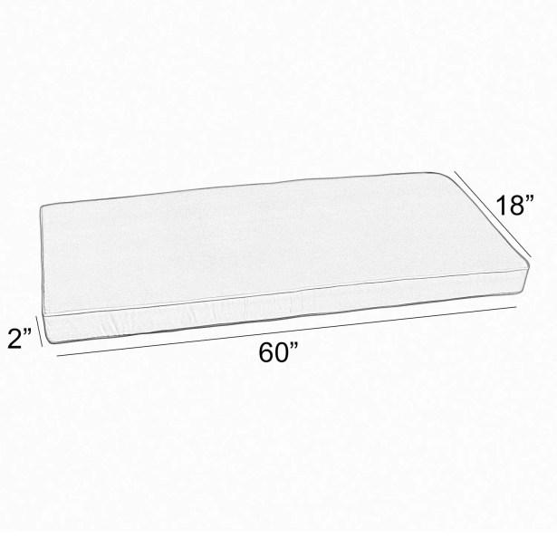 Canvas Indoor/Outdoor Sunbrella Bench Cushion Size: 2