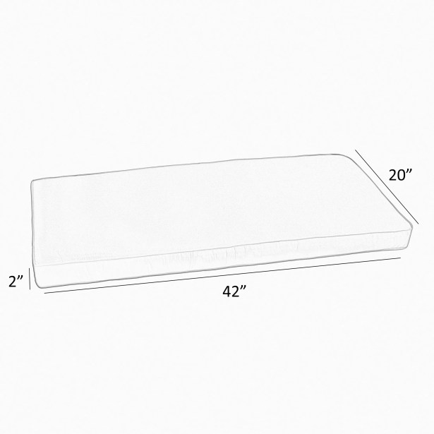 Stripe Outdoor Sunbrella Bench Cushion Size: 42