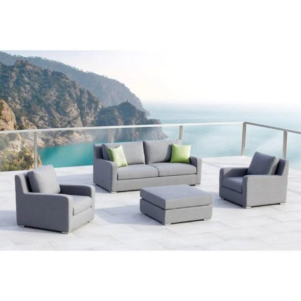 Royal 4 Piece Sunbrella Sofa Set with Cushions