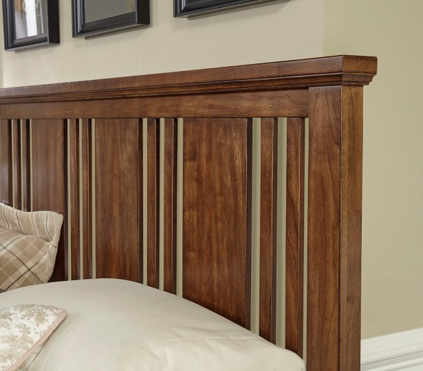Diemer Craftsman Slat Headboard Color: Amish Cherry, Size: King