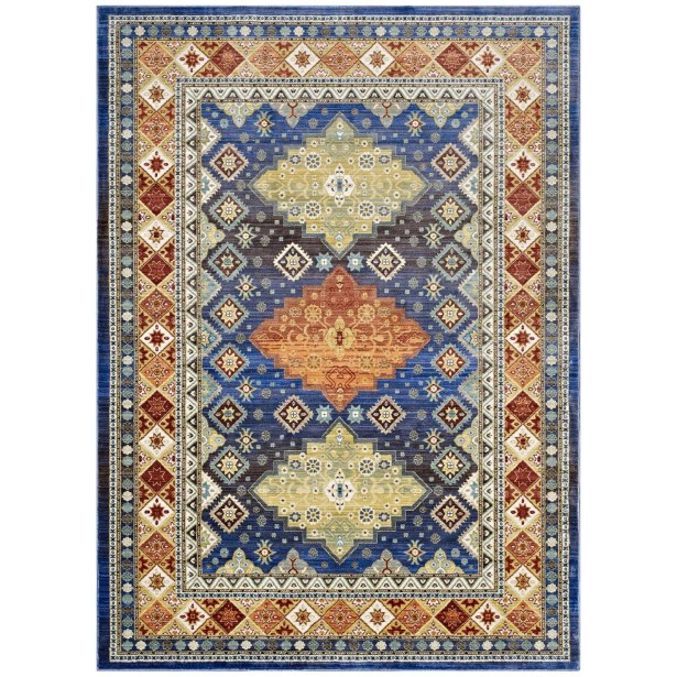 Fetterman Diamond Yellow/Orange Area Rug Rug Size: Rectangle 5' x 8'