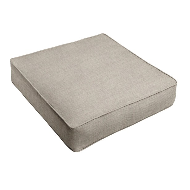 Indoor/Outdoor Sunbrella Dining Chair Cushion Fabric: Gray, Size: 30