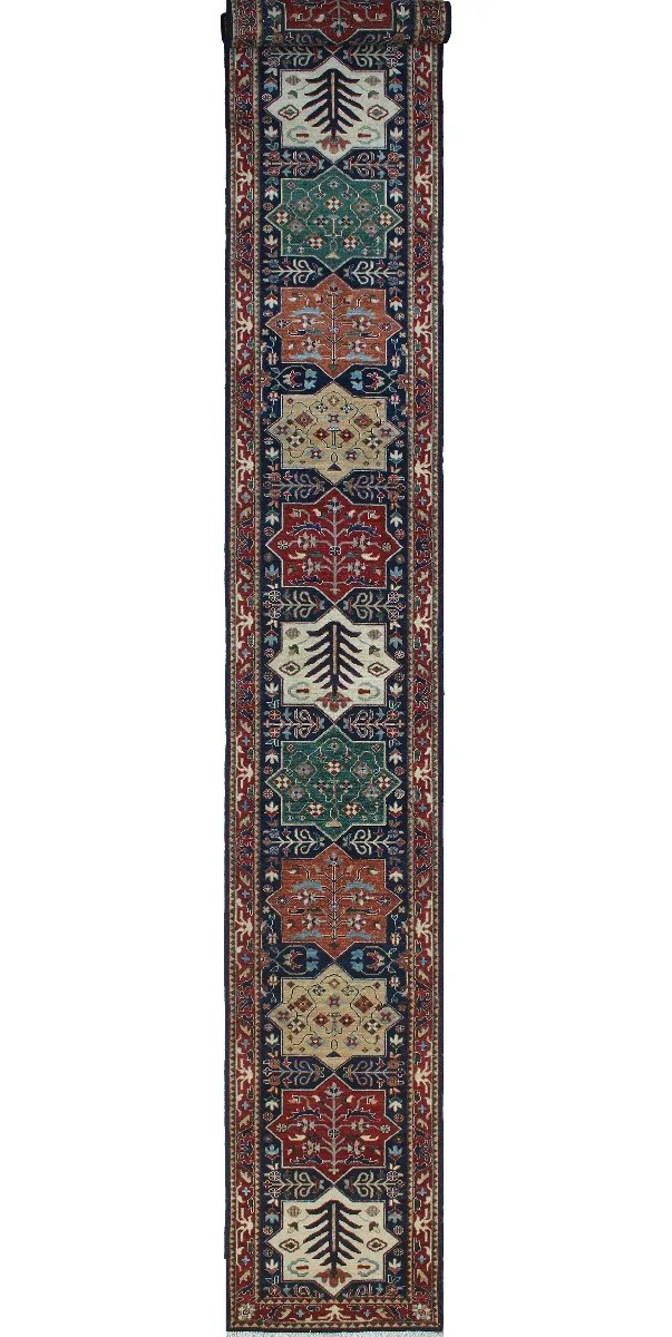 One-of-a-Kind Jacque Hand-Knotted Wool Blue Area Rug
