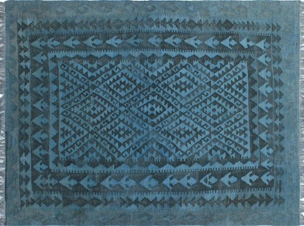 One-of-a-Kind Gerri Hand-Woven Wool Blue Area Rug