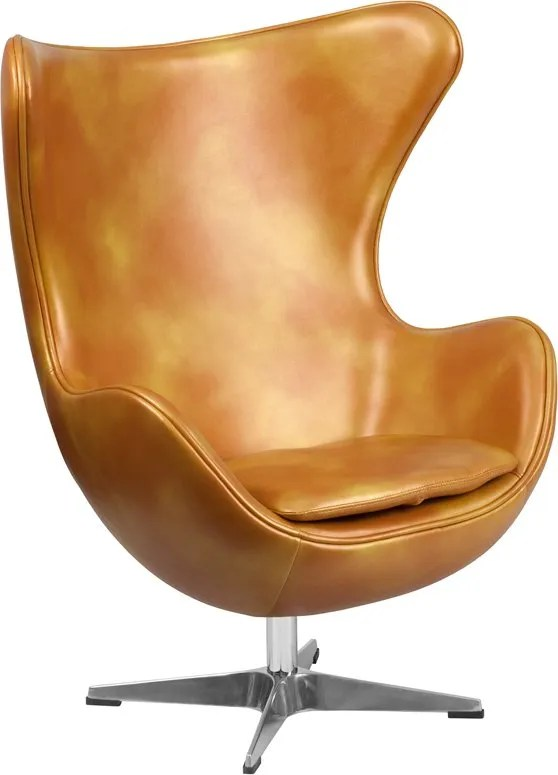 Wheatley Lounge Chair Seat Color: Gold