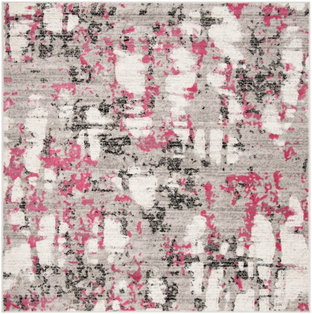 Despain Gray/Pink Area Rug Rug Size: Square 6'7
