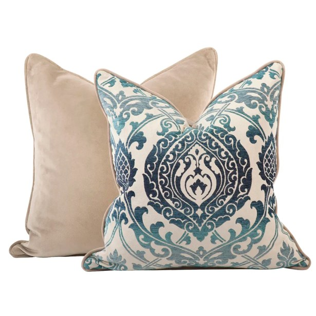 Pickney Damask Throw Pillow Size: 20