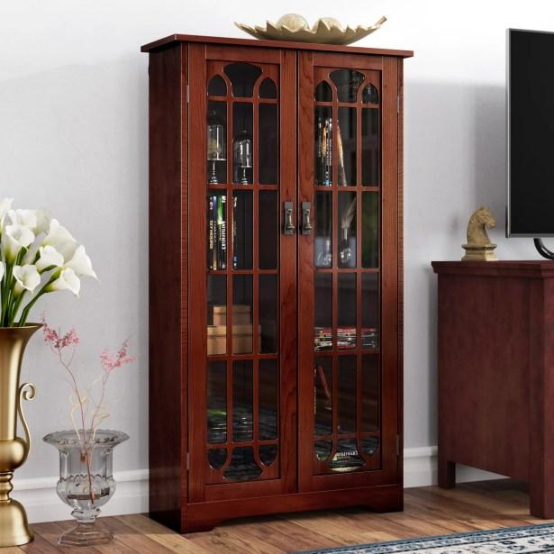 Window Pane Multimedia Cabinet Color: Cherry