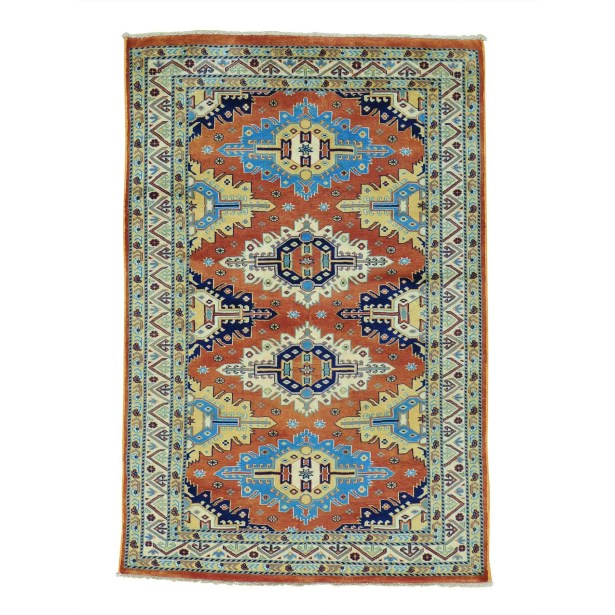 One-of-a-Kind Tilomar Hand-Knotted Rust Red Area Rug