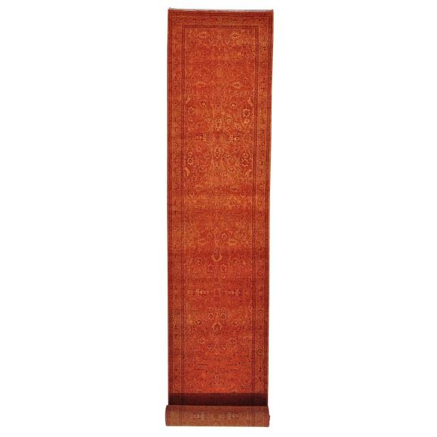 One-of-a-Kind Gouveia Tone on Tone Hand-Knotted Burnt Orange Area Rug