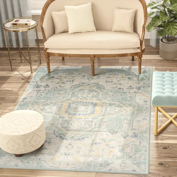 Chauncey Blue Area Rug Rug Size: Rectangle 3' x 8'
