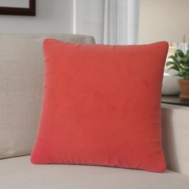 Locindra Solid Down Filled Throw Pillow Size: 24