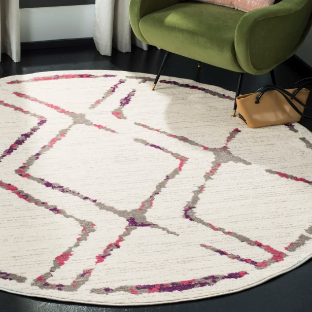 Cohrs Ivory Area Rug Rug Size: Round 6'7
